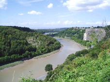 View from Avon Gorge towards Pill